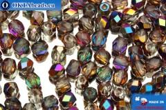 Czech fire polished beads crystal AB (VX00030) 4mm, 50pc