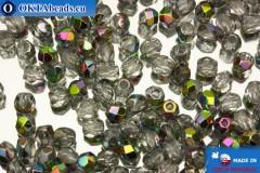 Czech fire polished beads crystal AB (V00030) 3mm, 50pc