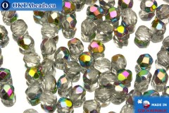 Czech fire polished beads crystal AB (V00030) 4mm, 50pc