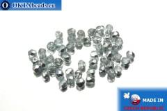 Český korálky ohňovky čirý stříbro (K2601) 3mm, 50ks