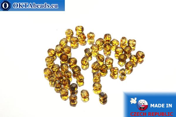 Czech fire polished beads crystal travertin (T00030) 3mm, 50pc