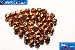 Czech fire polished beads copper (MAG03) 2mm, 50pc