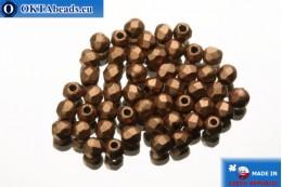 Český korálky ohňovky měď matný (K0178JT) 2mm, 50ks FP356