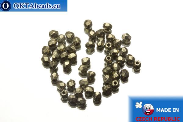 Český korálky ohňovky metalíza (18549CR) 3mm, 50ks