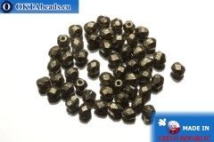 Czech fire polished beads metallic (18549CR) 4mm, 50pc