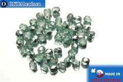 Czech fire polished beads metallic (K2504CR) 4mm, 50pc