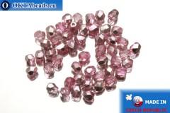 Český korálky ohňovky růžový metalíza (K2703CR) 4mm, 50ks