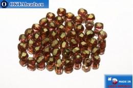Český korálky ohňovky růžový zlatý lesk (AK00030) 2mm, 50ks FP344