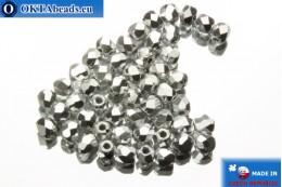 Český korálky ohňovky stříbro (27000CR) 2mm, 50ks FP355