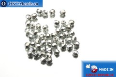 Český korálky ohňovky stříbro (27000CR) 3mm, 50ks