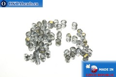 Czech fire polished beads grey bronze (ZR30010) 3mm, 50pc