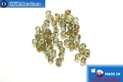 Czech fire polished beads grey travertin (T60110) 3mm, 50pc