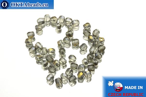 Český korálky ohňovky šedý zlatý lesk (ZR40010) 3mm, 50ks