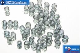 Český korálky ohňovky modrý (LB00030) 2mm, 50ks FP338