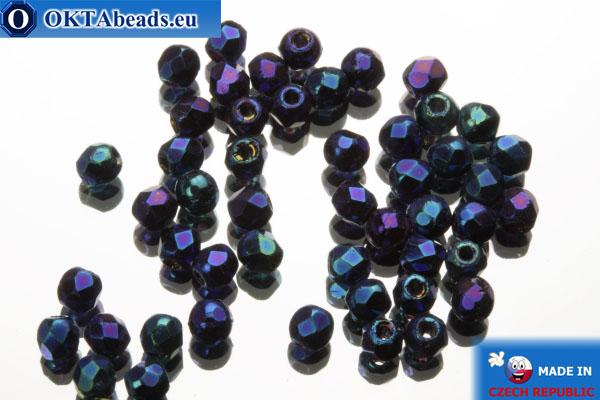Český korálky ohňovky modrý iris (21435JT) 2mm, 50ks FP357