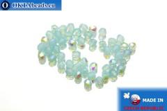 Český korálky ohňovky modrý AB opal (X61000) 3mm, 50ks
