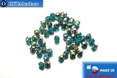 Czech fire polished beads blue AB (V60150) 3mm, 50pc