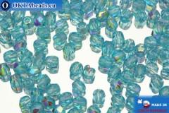 Český korálky ohňovky modrý AB (X60020) 3mm, 50ks