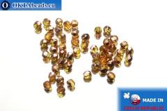 Český korálky ohňovky topas měď (C10060) 3mm, 50ks