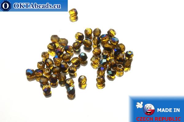 Český korálky ohňovky topas AB (BR10100) 3mm, 50ks