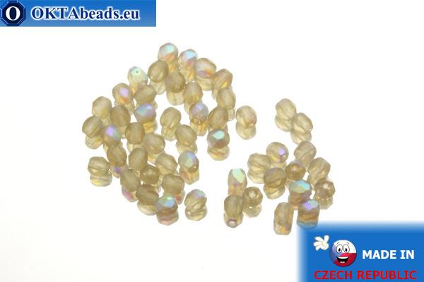 Český korálky ohňovky topas AB matný (MX10220) 3mm, 50ks
