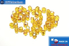 Чешские граненые бусины топаз радужные (X10060) 4мм, 50шт