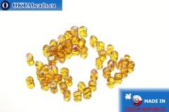 Český korálky ohňovky topas AB (X10100) 3mm, 50ks