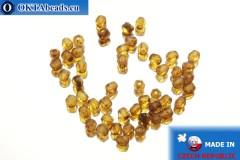 Český korálky ohňovky topas travertin matný (MT00030) 3mm, 50ks