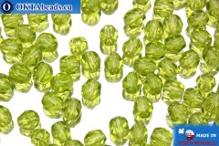 Чешские граненые бусины зеленые (50230) 4мм, 50шт