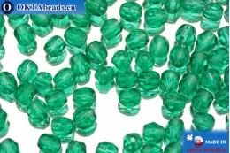 Český korálky ohňovky zelený (50720) 4mm, 50ks FP114