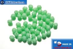 Чешские граненые бусины зеленые (53120) 4мм, 50шт