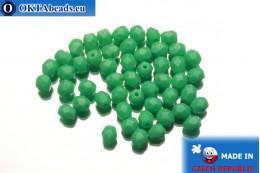 Český korálky ohňovky zelený (53130) 4mm, 50ks FP257