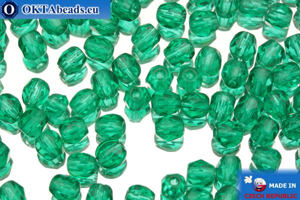 Český korálky ohňovky zelený (50720) 4mm, 50ks