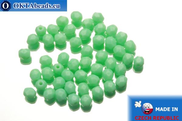 Český korálky ohňovky zelený (53120) 4mm, 50ks