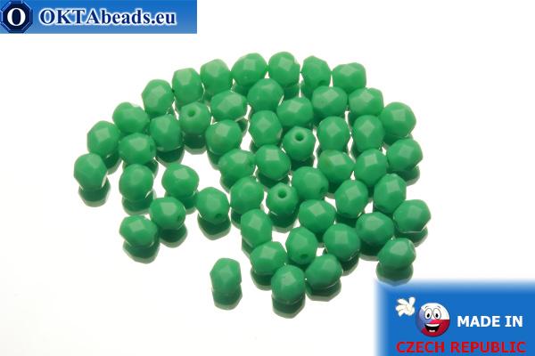 Czech fire polished beads green (53130) 4mm, 50pc