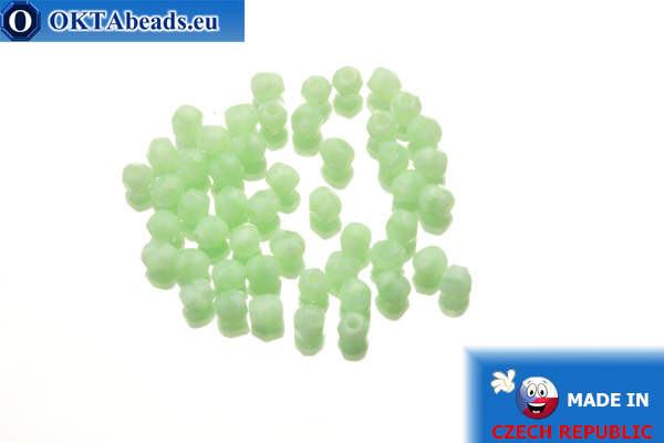 Czech fire polished beads green (54200) 3mm, 50pc