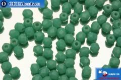 Czech fire polished beads green (63130) 3mm, 50pc