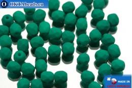 Český korálky ohňovky zelený matný (02010/25128) 4mm, 50ks FP311