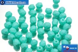 Český korálky ohňovky zelený matný (02010/29569) 4mm, 50ks FP315