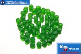 Český korálky ohňovky zelený opal (51010) 4mm, 50ks FP275