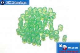 Český korálky ohňovky zelený opal (61100) 4mm, 50ks FP261