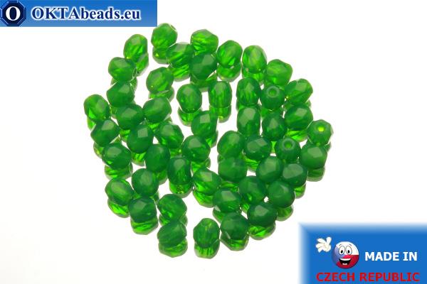 Český korálky ohňovky zelený opal (51010) 4mm, 50ks
