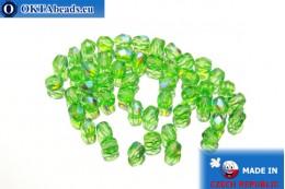 Český korálky ohňovky zelený AB (X50120) 4mm, 50ks FP258