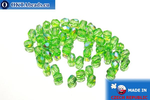 Český korálky ohňovky zelený AB (X50120) 4mm, 50ks