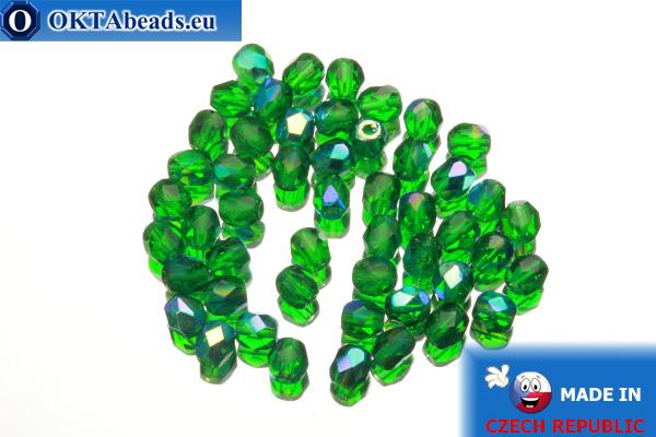 Český korálky ohňovky zelený AB (X50140) 4mm, 50ks
