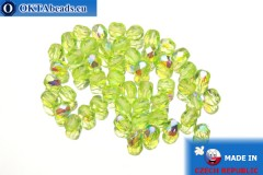 Český korálky ohňovky zelený AB (X50400) 4mm, 50ks
