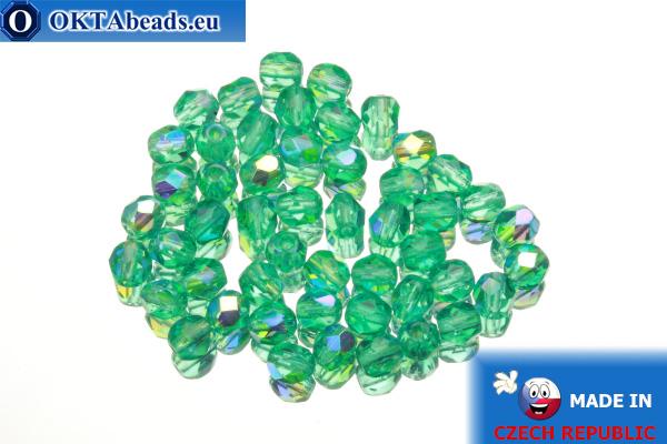 Český korálky ohňovky zelený AB (X60220) 4mm, 50ks