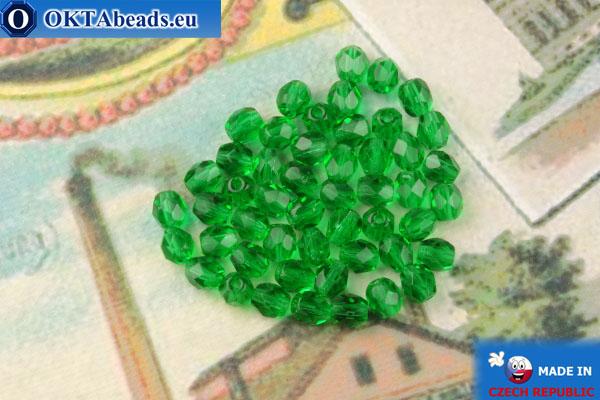 Чешские граненые бусины зеленый (50140) 4мм, 50шт FP371