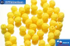 Český korálky ohňovky žlutý matný (02010/29573) 4mm, 50ks
