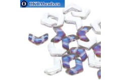 Chevron DUO beads Backlit Petroleum (00030/26601) 10x4mm 10pc
